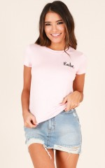 Total Babe tee in blush