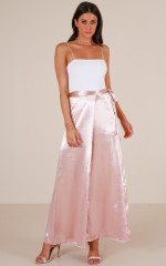 Soft Touch maxi skirt in blush