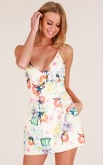 Loving Embrace dress in cream floral