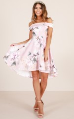 Going My Way dress in blush floral