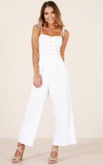 Love Galore jumpsuit in white