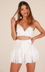Spot Check shorts in white