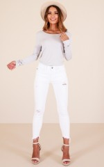 Kristen skinny jeans in white denim