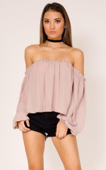 After Sundown top in mocha