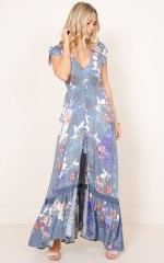 Baylee Bali dress in navy floral