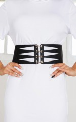 Belief belt in black