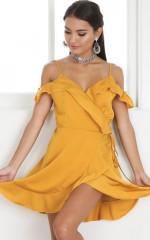 Bright Side dress in mustard