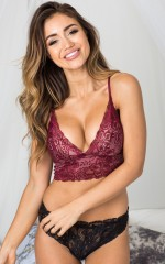 Born This Way bralette in wine lace