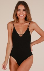 Dance All Night bodysuit in black