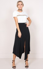 Dancing With Diamonds maxi skirt in black