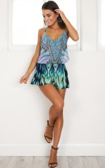 Dream Team Playsuit in aqua print