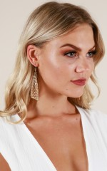 Fall Apart earrings in gold