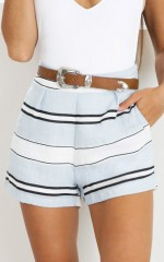 Fall From Grace shorts in blue stripe