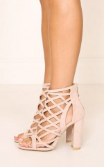 Billini-Raven in blush suede