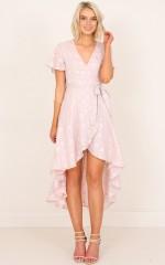 Innocence Maxi Dress in Mauve Lurex