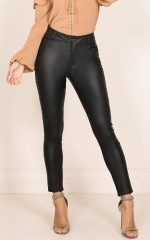 Lip Gloss jeggings in black
