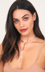 Lariat Necklace in gold