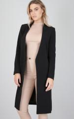Meeting Minutes coat in black