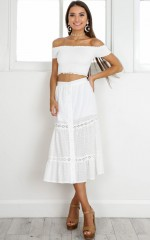 Nothing Is Promised maxi skirt in white