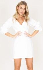 Overjoyed dress in white