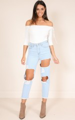 Poppy mum jeans in light wash