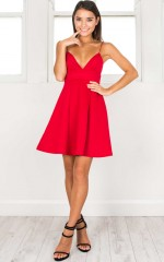 Poison Heart dress in red