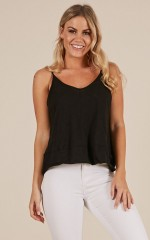 Best Of Friends top in black