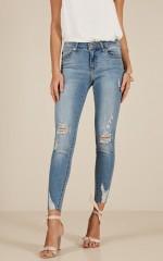 Jenny skinny jeans in light wash denim