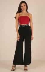 Go Unnoticed pants in black