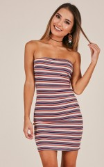 Speak The Truth dress in red stripe
