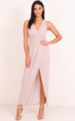 Sweet And Serene Maxi Dress in Stone