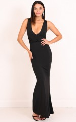 Take My Hand Maxi Dress in Black