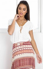 Invisible girl top in white