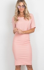 Claim It Back skirt in blush