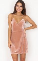Slip It On dress in blush velvet