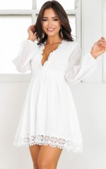 Melts Like Honey dress in white