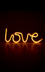 Like You Love Me neon light in warm white