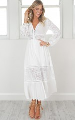 Wild Imagination Maxi Dress In white