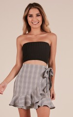 Sweet Touch crop top in black