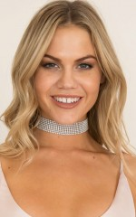 Too Sophisticated choker in silver