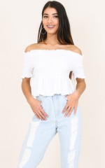Transit top in white