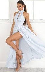 Twilight Star maxi dress in pale blue