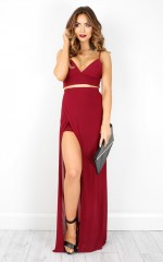 Body Language two piece set in wine