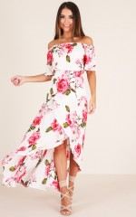 Up In The Clouds dress in white floral