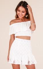 Walk My Way skirt in white