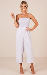 Weekend Chill jumpsuit in blue stripe