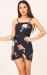Who Dat Girl dress in black floral