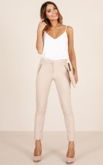 Win It All pants in beige