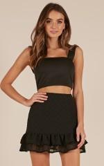 Wondering Off skirt in black