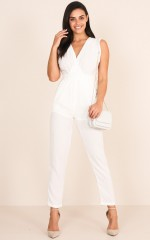 Workaholic Jumpsuit in white